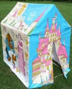 Princess tent.I had one of these set up in the family room every time I was sick. It was always stocked with books, pillows, a lantern, stuffed animals, the works! Made being sick a little better. Thanks Mom!