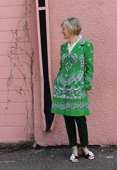 artistic green coat
