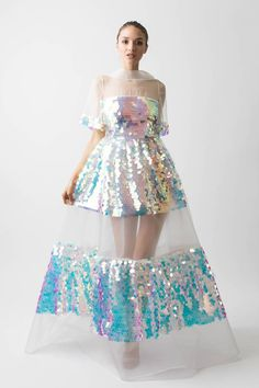 Pretty Dresses, Beautiful Dresses, Sheer Gown, Alternative Wedding Dresses, Gorgeous Wedding Dress, Dress Wedding, Fashion Show, Fashion Design, Punk Fashion
