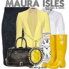 Inspired by Sasha Alexander as Maura Isles on Rizzoli & Isles.