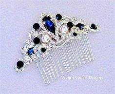 Hair Comb Wedding, Wedding Hair Pieces, Bridal Hair, Bridal Comb, Blue Bridal, Wedding Stuff, Sapphire Blue Weddings, Blue Sapphire, Sapphire Wedding