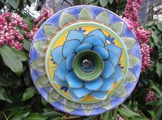 Garden+Art+Glass+Plate+Flower+RePurposed+by+TheEverlastingGarden,+$45.00