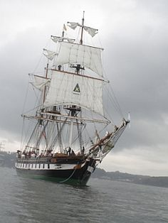 The three-masted 'DUNBRODY' Famine ship was launched in 1845. Thanks to its captains, John Baldwin and John W. Williams, this ship was known for having an exceptionally low mortality rate during it's transport of passengers desperate to escape the Irish potato famine of 1845 - 1851.