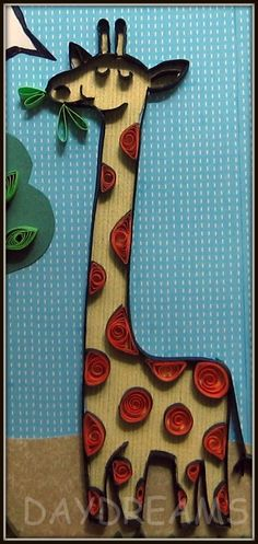 DAYDREAMS: Quilled giraffe