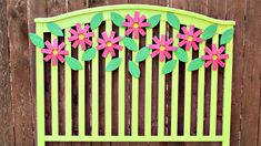 Flower Headboard Makeover!  #MarkMontano #DecoArt #EclecticProducts #Flowers #MakeYourMark