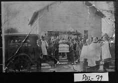 Photograph of African-American funeral at what may have been the Macedonia Church, Pulaski County, Georgia, 1937 Feb. 25 Vanishing Georgia collection, Georgia Archives
