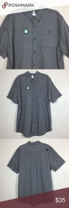 """Addias Boston Celtics Logo Mens 2XL Short Sleeve Addias Boston Celtics Logo Mens 2XL Short Sleeve Button Front Gray Basketball  Gently used  -  Pit to pit 25.5""""   -  Length 33""""  -  100% cotton  -  Machine wash adidas Shirts Casual Button Down Shirts"""