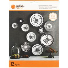 Martha Stewart-Gothic Lace Mirror Clings: Spider. Adhere these clings to a mirror, window or glass surface to get your home in the Halloween spirit. The removable clings can be reused year after year.