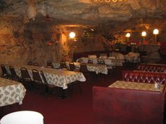 The Cave Restaurant, near Richland MO. Really in a cave- 3 stories up!