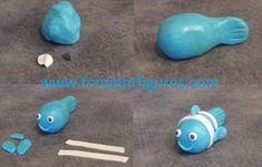 How to make a fondant fish?