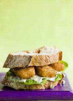 Fish finger doorstep sandwich