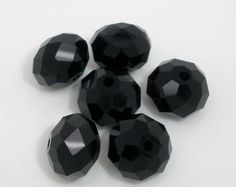 10mm Black Crystal Glass Faceted Beads, B428, 326a by vickysjewelrysupply. Explore more products on http://vickysjewelrysupply.etsy.com