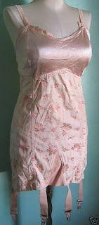 1950s pink brocade vintage girdle