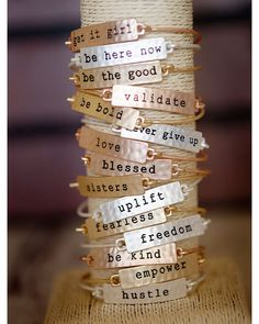 Get It Girl Stamped Tribe Bracelet, , Jewelry -- Cents Of Style - 5 Hand Stamped Metal, Hand Stamped Jewelry, Metal Stamped Bracelet, Hand Jewelry, Jewelry Crafts, Handmade Jewelry, Jewelry Ideas, Cheap Jewelry, Artisan Jewelry