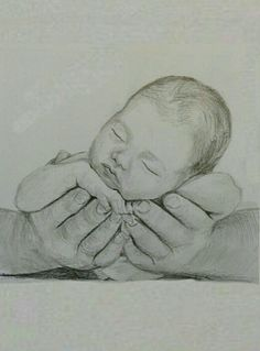 Drawing Pencil Portraits - Lullaby in graphite pencils Discover The Secrets Of Drawing Realistic Pencil Portraits Pencil Art Drawings, Cool Art Drawings, Art Drawings Sketches, Baby Drawing, Painting & Drawing, Mother And Child Drawing, Baby Sketch, Beautiful Sketches, Pencil Portrait