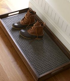 #LLBean: Rustic Wooden Boot Tray