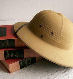 Vintage Safari Hat Pith Helmet. $30.00, via Etsy.
