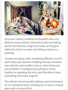 We talk wedding hat etiquette and how to make your own wedding hat to make sure you are a stand-out wedding guest Katherine Elizabeth, New Press, Ascot Hats, Team Building Events, Planning And Organizing, Wedding Hats, Hat Making, Corporate Events, Afternoon Tea
