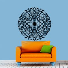 Wall Decal Vinyl Sticker Mandala Om Aum Yoga Sign Art Design Room Nice Picture Decor Hall Wall NA62