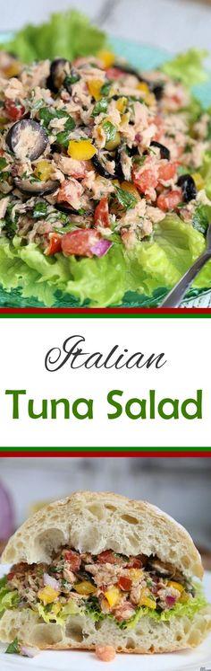 Italian Tuna Salad - perfect light summer lunch or make sandwiches!  #GenovaSeafood