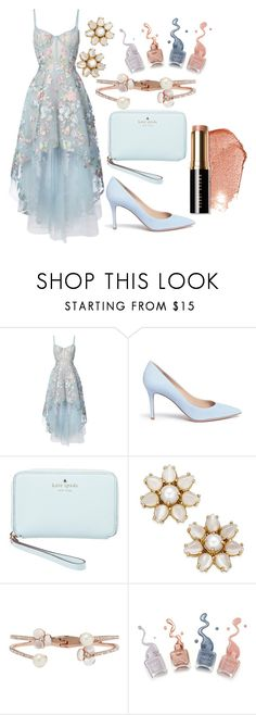 """Flower look"" by toria-rid ❤ liked on Polyvore featuring Notte by Marchesa, Gianvito Rossi, Kate Spade and Bobbi Brown Cosmetics"