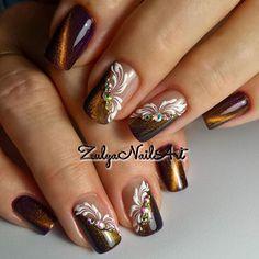 Silver Nail Designs, Simple Nail Art Designs, Nail Polish Designs, Cute Spring Nails, Cute Nails, Pearl Nails, Nailart, Cat Eye Nails, Pretty Nail Art