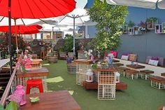 This rooftop bar and garden is tucked away on the rooftop of Jimmy Watson's. The rooftop garden provides an oasis to escape the city below, and the intimate bar is decorated with curios from Europe.