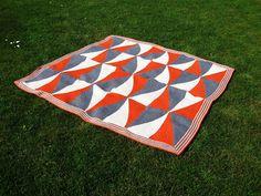 StrickRatte: Decke mit verkürtzten Reihen