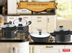 Now shop for the exclusive #BlackPearlCookware and add a dose of elegance to your kitchen with the elegant range. Shop Now At – www.vinodcookware.com and avail extra 10% discount on the entire range! Hurry Up! Start Shopping!