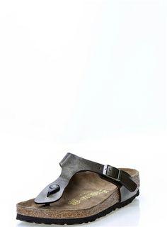 Birkenstock Gizeth Gold and Brown Sandal