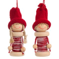 Discover recipes, home ideas, style inspiration and other ideas to try. Ornament Crafts, Diy Christmas Ornaments, Felt Ornaments, Holiday Crafts, Wooden Spool Crafts, Wooden Spools, Wood Peg Dolls, Christmas Thoughts, Wine Cork Crafts
