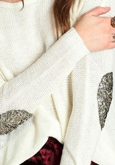 Sequinned elbow patches