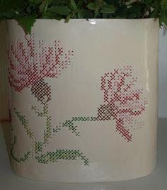 embroidered ceramics!  @Moran Malron