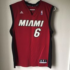 3d1aab500e95 Details about Vintage LeBron James Miami Heat  6 NBA Basketball Jersey-Youth  S-Adidas