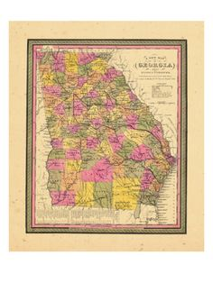 1846, Georgia, United States Giclee Print at AllPosters.com