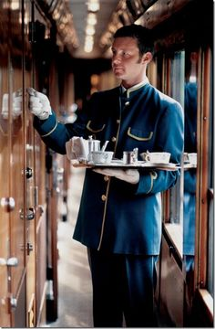 Orient Express Tea Time...wish I could go back in time for a trip on The Orient Express, Paris to Istanbul