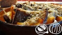 Ein leckeres Rezept aus Brot: Brotauflauf mit Kürbis und Bergkäse - A delicious bread recipe: Pumpkin bread pudding with cheese