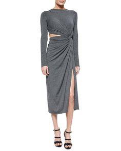 Cashmere Jersey Twisted Cutout Dress by Donna Karan at Bergdorf Goodman.