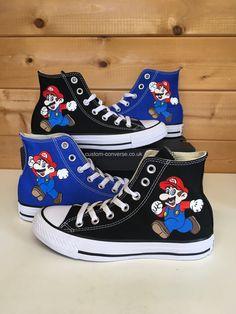 7208b8a5387 Super Mario High Top Converse  converse  mario  supermario  nintendo  luigi