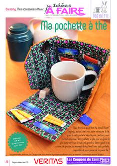 """Cousez votre pochette/boite à thé avec le nouveau projet """"Tea time"""" – Les tutos couture de Dodynette"""