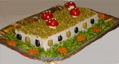 Torta tramezzino o Smorgastarta autumn sandwich cake herfst brood taart