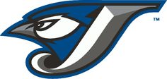 Toronto Blue Jays Alternate Logo (2004) - A Blue Jay head inside a J in white with silver and graphite beveling and black and blue outlines