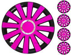 4x15  Wheel trims for CITROEN C4 XSARA PICASSO BERLINGO C3 C5 XANTIA  PINK/BLACK