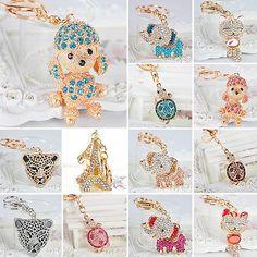 Chic Charm Rhinestone Crystal Bling Purse Bag Pendant Key Ring Keychain Gift c2b00837d