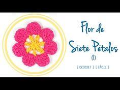 #Flor de Siete Pétalos a #Crochet   #PatronesValhalla
