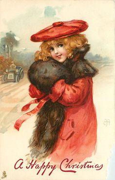 Vintage Christmas greeting...Ellen Jessie Andrews ca 1907