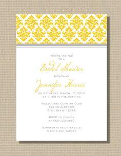 Grey and yellow combo for wedding!
