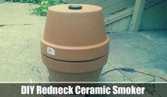 DIY Redneck Ceramic Smoker - SHTF, Emergency Preparedness, Survival Prepping, Homesteading