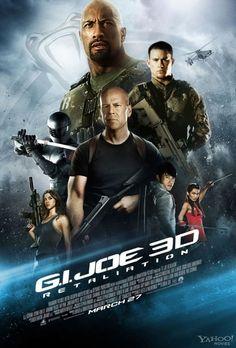 Nuevo póster de GI Joe: Retaliation, film protagonizado por Channing Tatum, Bruce Willis y Dwayne Johnson, entre otros. La secuela de GI Joe: The Rise of Cobra, será estrenada en Marzo de 2013 en Norteamérica.