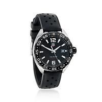 """""""TAG Heuer Formula 1 Men's 41mm Stainless Steel Watch with Black Rubber Strap"""": """"From TAG… #Jewelry #ClearanceJewelry #DiscountJewelry"""